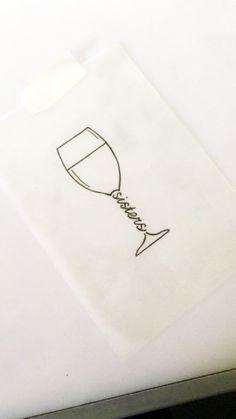 glass of wine - tattoo sketch