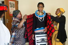 A Celebration {Traditional Wedding) Zulu African Attire, African Wear, African Fashion, African Traditional Wedding, Traditional Weddings, African Wedding Theme, African American Weddings, African Weddings, Afro Style