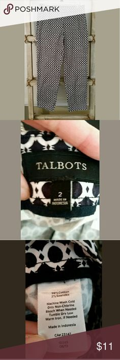 Talbot's Women's Cropped Pants Fun dress/ casual pants. Waist is 30 inches and length is 25 1/2 inches . Talbots Pants Ankle & Cropped