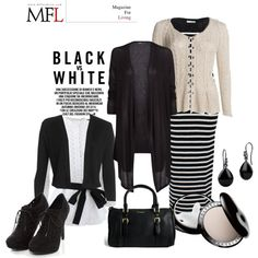 """BLACK AND WHITE"" by phoebesnayer on Polyvore"