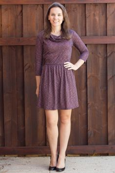 I kind of love this dress color and style, but I wish it had full-length sleeves, and maybe were a little longer. Loveappella Arti Funnel Neck Fit & Flare Dress – $68 Stitch Fix November Review on Spoonful of Flavor