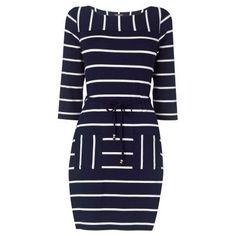 Phase Eight Cindy Stripe Tunic Dress, Navy/White