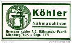 Original-Werbung/ Anzeige 1935 - KÖHLER NÄHMASCHINEN - ca. 45 x 25 mm
