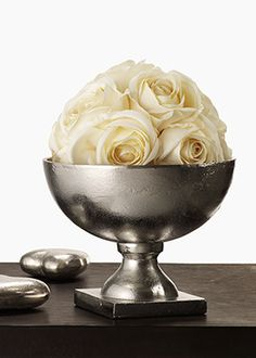 Centerpiece #1 - Gold Compote centerpiece will be in a vase shaped like this silver compote