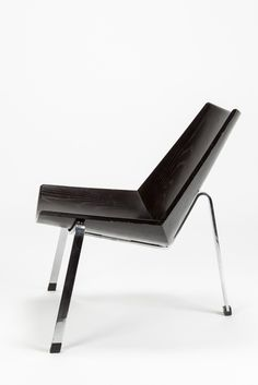 Benedict Rohner; Model 4050 chair, 1957, lacquered plywood and chromed steel