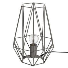 Lampe filaire en métal gris ORIGAMI