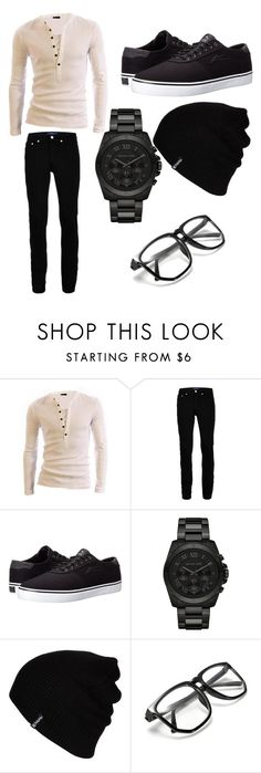 """Geek of the Hour"" by honeyitsqueenbc on Polyvore featuring Topman, Lakai, Michael Kors, Hurley, men's fashion and menswear"