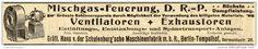 Original-Werbung/ Anzeige 1910 - MISCHGAS-FEUERUNG/ GRÄFL.HANS v.d.SCHULENBURG'SCHE FABRIK CHARLOTTENBURG-ca.200 x 30 mm