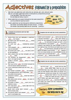 English Grammar Exercises, English Grammar Tenses, Teaching English Grammar, English Grammar Worksheets, English Language Learning, English Vocabulary, English Adjectives, Grammar Practice, Grammar Lessons