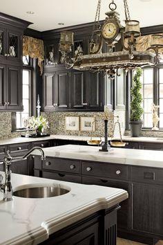 Design in Depth: Killer Kitchens | New England Home Magazine ~ Fine Art Lamps