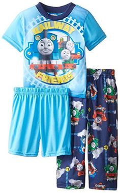 Thomas the Train Little Boys Railway Friends 3 Piece Pajama Set Multi 2T * Read more reviews of the product by visiting the link on the image. (This is an affiliate link) #BabyBoySleepwearRobes