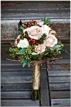 Winter wedding cranberries