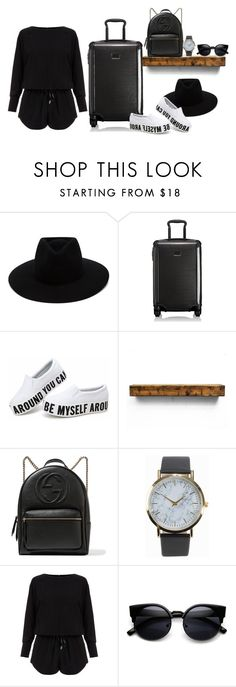 """""""Traveling to Maldives W / The Beckham Family  For The Christmas Holidays!"""" by creating-outfits ❤ liked on Polyvore featuring rag & bone, Tumi, Gucci, NLY Accessories and Helmut Lang"""