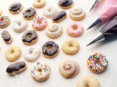 Mini donut cookies