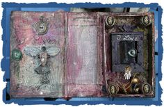 Altered Books Love Shrine, A Mixed Media Altered Art Book as a Love Shrine to My Daughters Birthday, Repurposing an unloved Book to Create a Mixed Media Art Work