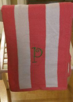 Monogrammed Beach Towel by Poyeema on Etsy, $15.00