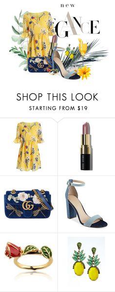 """Elegance Yellon :)"" by waldineia on Polyvore featuring moda, Bobbi Brown Cosmetics, Gucci, GUESS, Disney e Banana Republic"