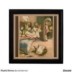 Playful Kittens Keepsake Box #Kittens #Cat #Pet #Animal #Keepsake #Trinket #Jewelry #Gift #Box