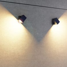Outdoor wall light that is directional in one axis. Glass Lights, Wall Lights, Outdoor Wall Lighting, Outdoor Walls, Garden Lamps, Lighting Design, Clear Glass, Studio, Cover