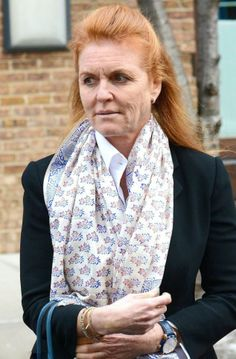 Sarah Ferguson In New York this week, Feb 2014 she looks narrow and utterly shattered. Her waistline may be trim once more, but she looks exhausted.