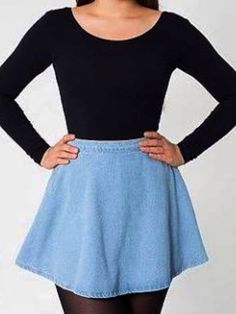 Denim Circle Skirt - American apparel | Clothes | Pinterest ...