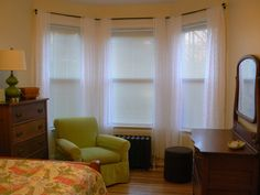 sketch of best curtain rods for bay windows