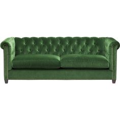 William Sofa, Vance Emerald (£1,430) ❤ liked on Polyvore featuring home, furniture, sofas, emerald green sofa, emerald home furniture, vance, diamond furniture and tufted furniture