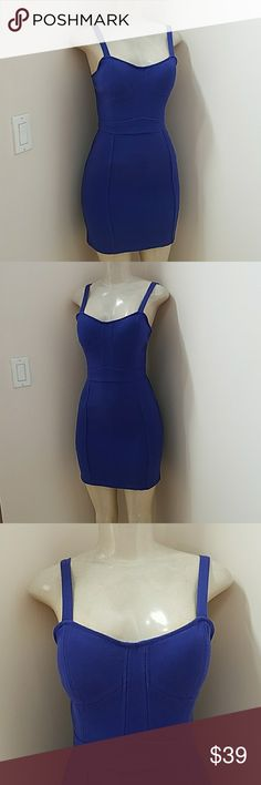 Urban Outfitter Blue mini Dress size Small Worn twice. Adjustable straps.  Custom Made padded bra inside.sparkle & fade Brand Sparkle & Fade Dresses Mini