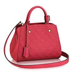 Louis Vuitton #Montaigne #Monogram #Red Empreinte Handbag #Checkerboard #Hobos #Leather #Louisvuitton @LouisVuitton #WTS #WhoTopsSyle