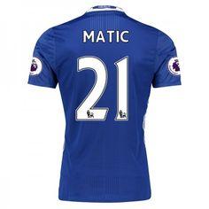 Chelsea 16-17 Nemanja #Matic 21 Hjemmebanesæt Kort ærmer,208,58KR,shirtshopservice@gmail.com