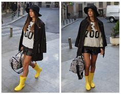 IGOR en el blog de la actriz Mariam Hernández. (Diario de una (F)It Girl).   #igor #igorshoes #boots #rainboots #looks #blogs #outfit #rain #lluvia #moda #tendencias #bloggers #celebs #estilo #style