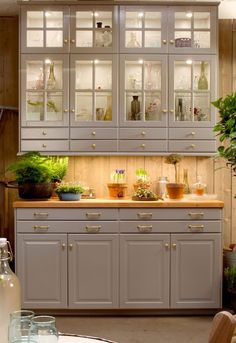 charming lighted kitchen cabinet