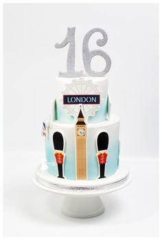 London cake and sweet 16 - Cake by Taartjes van An (Anneke)