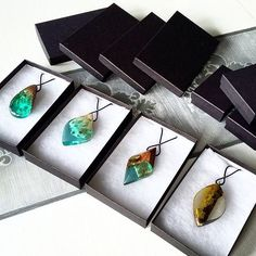 Just a few pieces that are ready to make their new owners happy! I love this part! Resin Wood Pendant. Handmade jewelry by WoodAllGood. #WoodAllGood