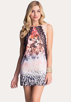Lace Trim Safari Dress
