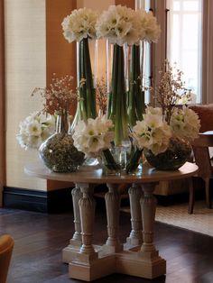 The Espelette Table Floral Centerpieces, Table Centerpieces, Hotel Flower Arrangements, Flower Decorations, Wedding Decorations, Welcome Flowers, Jeff Leatham, Hotel Flowers, Corporate Flowers