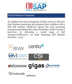 Top SAP Solutions Companies - Technology Blog 1 - Medium Salesforce Developer, Legacy System, Business Operations, Customer Relationship Management, Consulting Firms, Community Building, Competitor Analysis, Finance, Technology