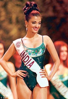 Aishwarya Rai in Miss World 1994 photo