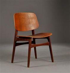 Børge Mogensen. Stol af teak, model 155