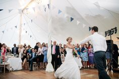 Cornflower Blue English Garden Wedding - Bridal Musings Wedding Blog Like how the tent poles are wrapped:)