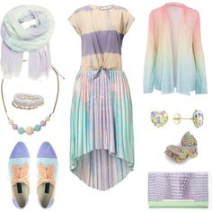 All of these pieces are just so cute! High School Outfits, Party Garland, Tie Dye, Fashion Outfits, My Style, Pastels, Weird, Witch, Runway