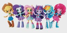 "mlp-merch: "" Hasbro has officially announced the Equestria Girls Minis line of chibi EqG figures! So far the mane 6 has been shown as you can see above, but more than the image and official line name. Equestria Girls Minis, My Little Pony Equestria, Twilight Equestria Girl, Fluttershy, Mlp, Rainbow Dash, Rainbow Rocks, Fiesta Little Pony, Little Pony Party"