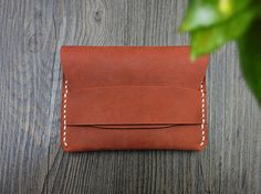 Unisex Leather Card Case  Custom Card Case Wallet  by CityOfGod
