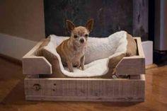 lit pour chien fabriqué en palettes