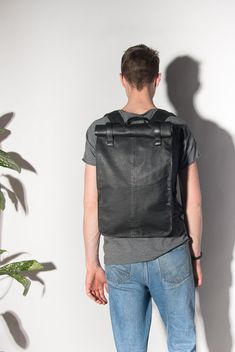 Leather backpack 4ffb26a412c52
