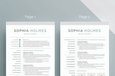 Letter Template Word Modern Resume Template For Word 13 Page Resume  Cover Letter  .