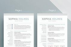 Letter Template Word Enchanting Modern Resume Template For Word 13 Page Resume  Cover Letter  .