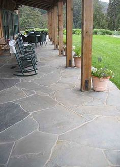 Bluestone for Front Porch- i like the stone