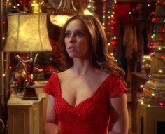 """Melinda Gordon's (Jennifer Love Hewitt) red Christmas dress on Ghost Whisperer Season 3 Episode 10 """"Holiday Spirit"""""""
