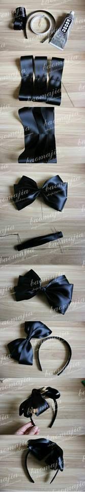 Diy Bow, Diy Ribbon, Ribbon Hair, Ribbon Crafts, Ribbon Bows, Ribbons, Making Hair Bows, Diy Hair Bows, Hair Bow Tutorial
